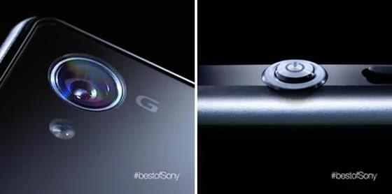 câmera e design do botão de ligar do Xperia Z1 - 560x278