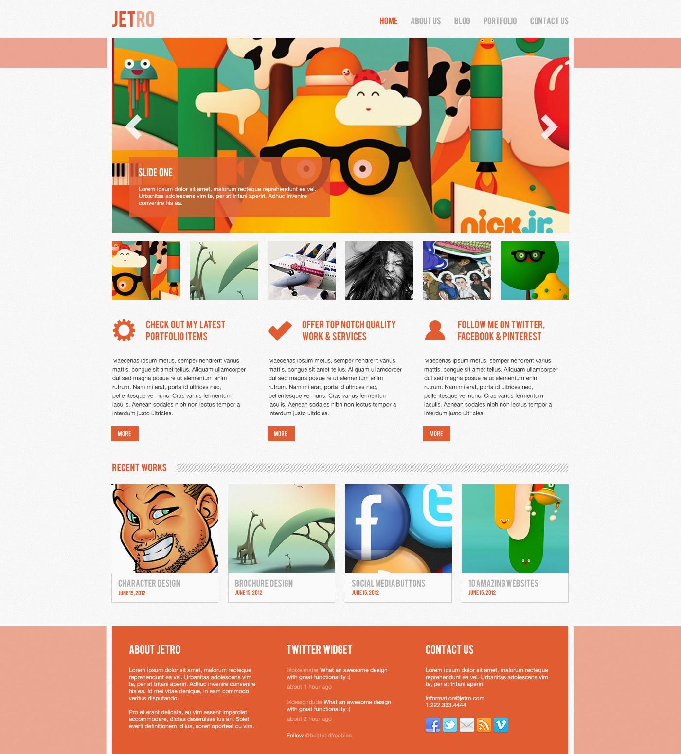 Jetro PSD Theme Website