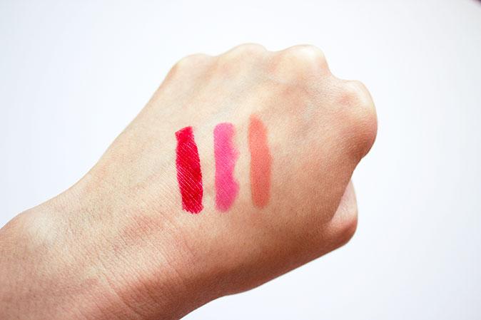 Clinique Pop Lip Colour and Primer Swatches