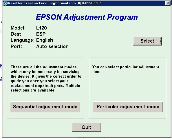 Walo PC Expert: free epson l120 resetter