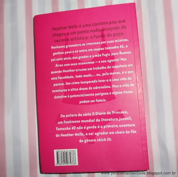 contracapa, livro, Tamanho 42 não é gorda, Meg Cabot, Galera Record, resenha, resumo