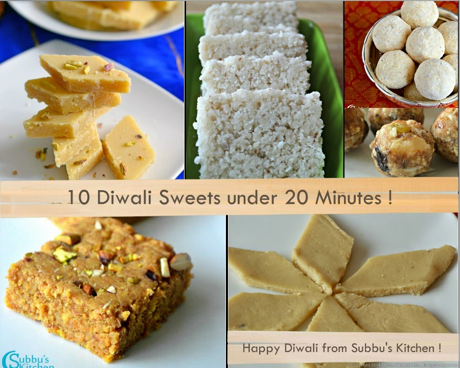 10 Diwali Sweets under 20 Minutes