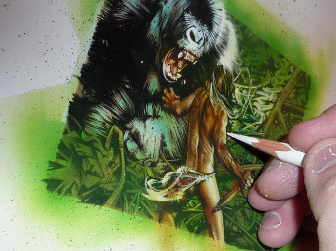 Tarzan, original art by Jeff Lafferty