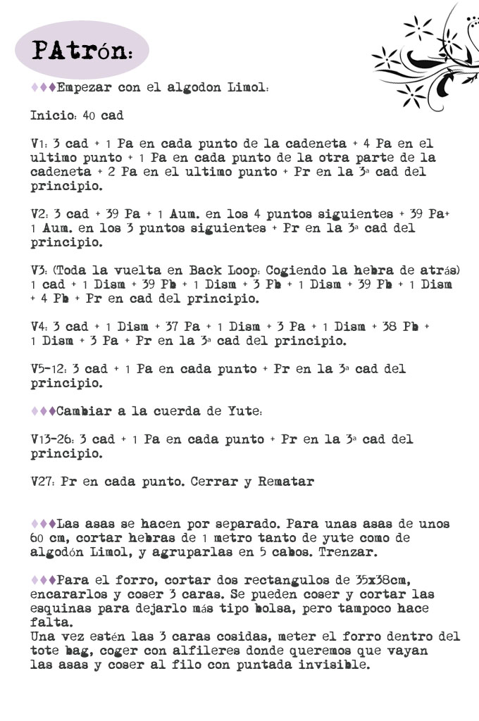Free Patterns: Tote Bag Veraniego de Ganchillo   Gallimelmas e ...