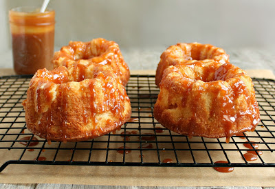 Salted Caramel Mini Apple Cake Bundts