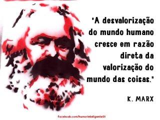Marx: de homens e de coisa - o processo da alienação