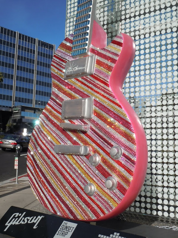 Candy Stripe Katy Perry GuitarTown sculpture