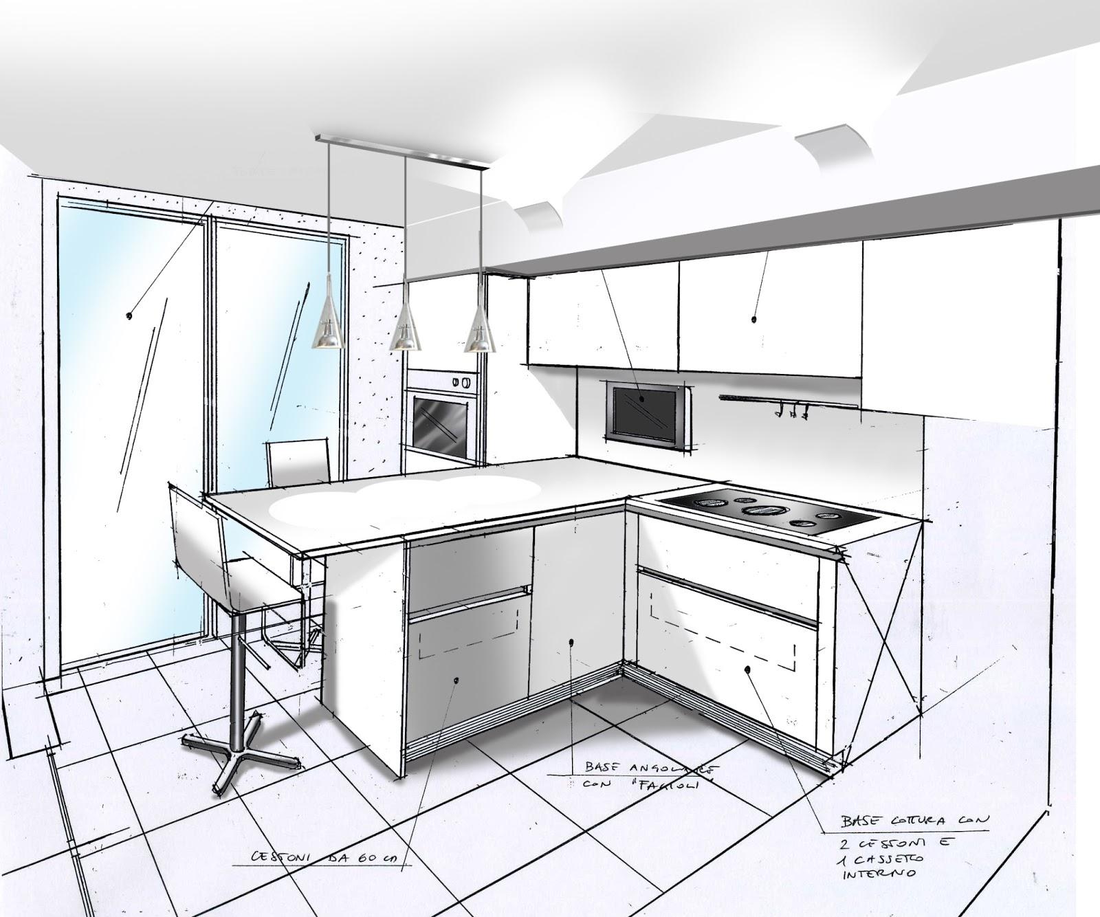Cheap elegant disegni di studio with disegna la cucina - Disegnare una cucina componibile ...