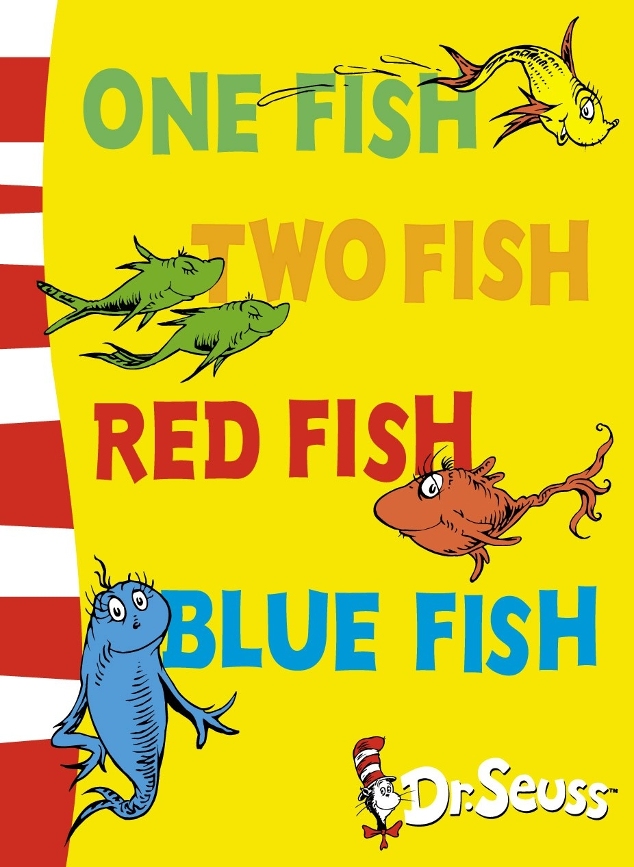 One fish two fish red fish blue fish for One fish two fish book