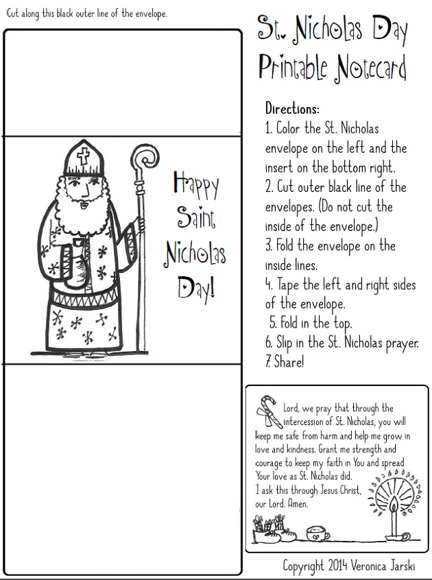 valentines day cards for nick - Paper Dali Saint Nicholas Free Coloring Page and Printable