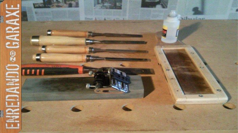 How to sharpen chisel with a cheap sharpening guide, enredandonogaraxe