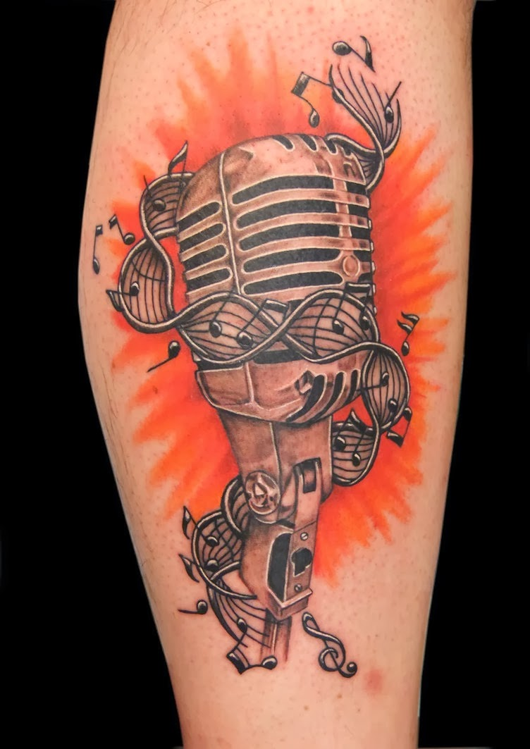 music tattoo designs for men