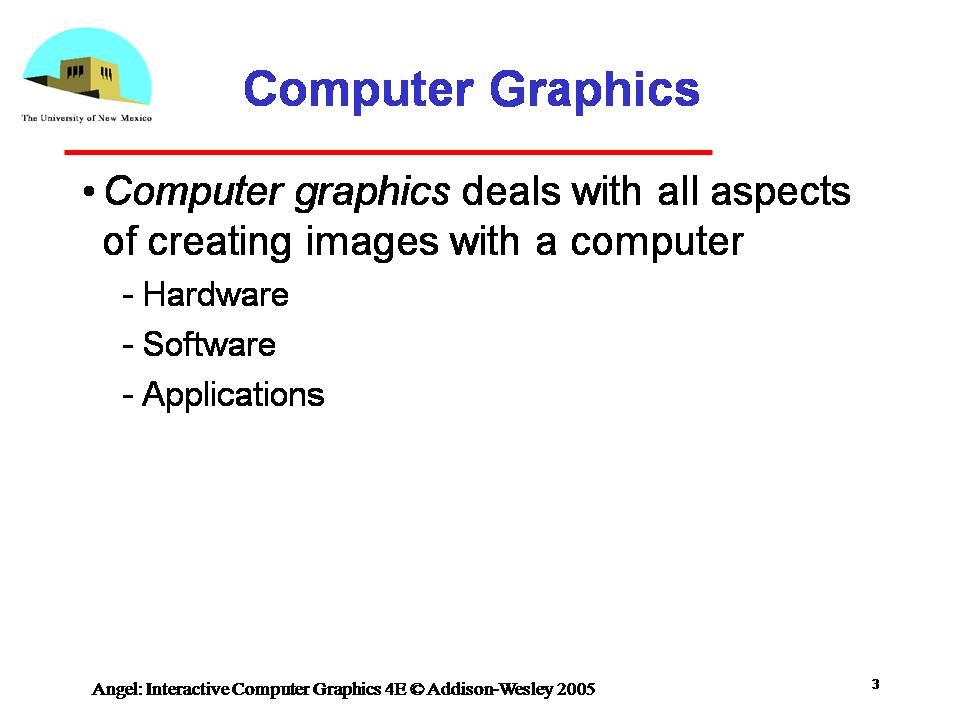 computer graphics definition and application