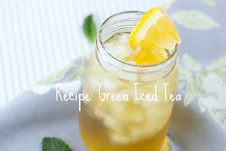 green iced te, easy green iced tea, easy recipe green iced tea, green iced tea recipe,