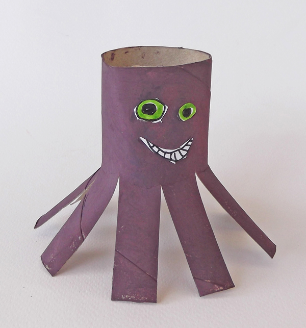 octopus, crafts, cardboard crafts,