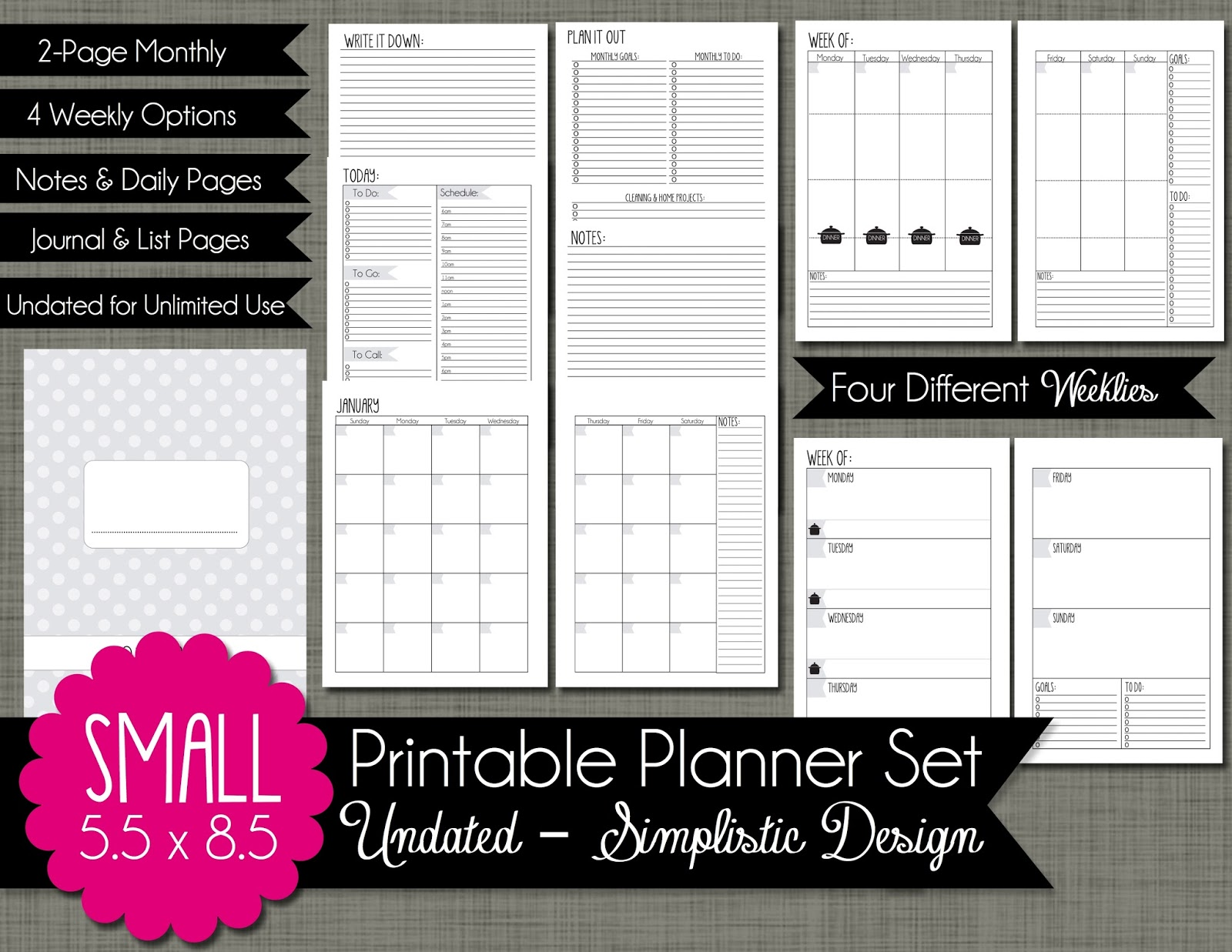 Monthly Work Planner This Planner Works Just Like