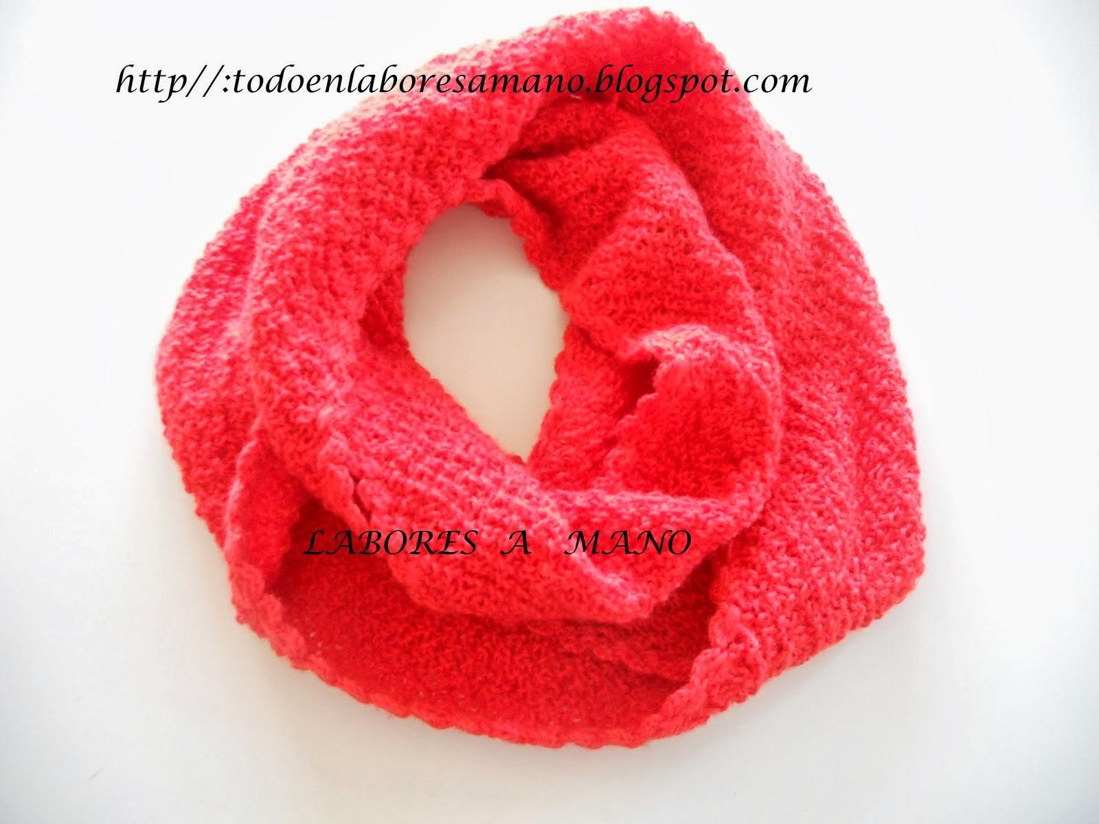 Cuello de lana en punto trigo