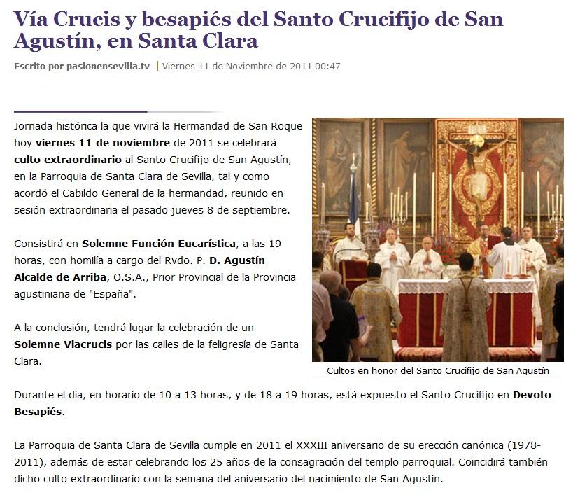 Parroquia santa clara sevilla 11 11 2011 d a hist rico en - Casas en santa clara sevilla ...