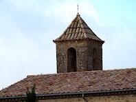 El campanar de l'església de Sant Salvador de Brics
