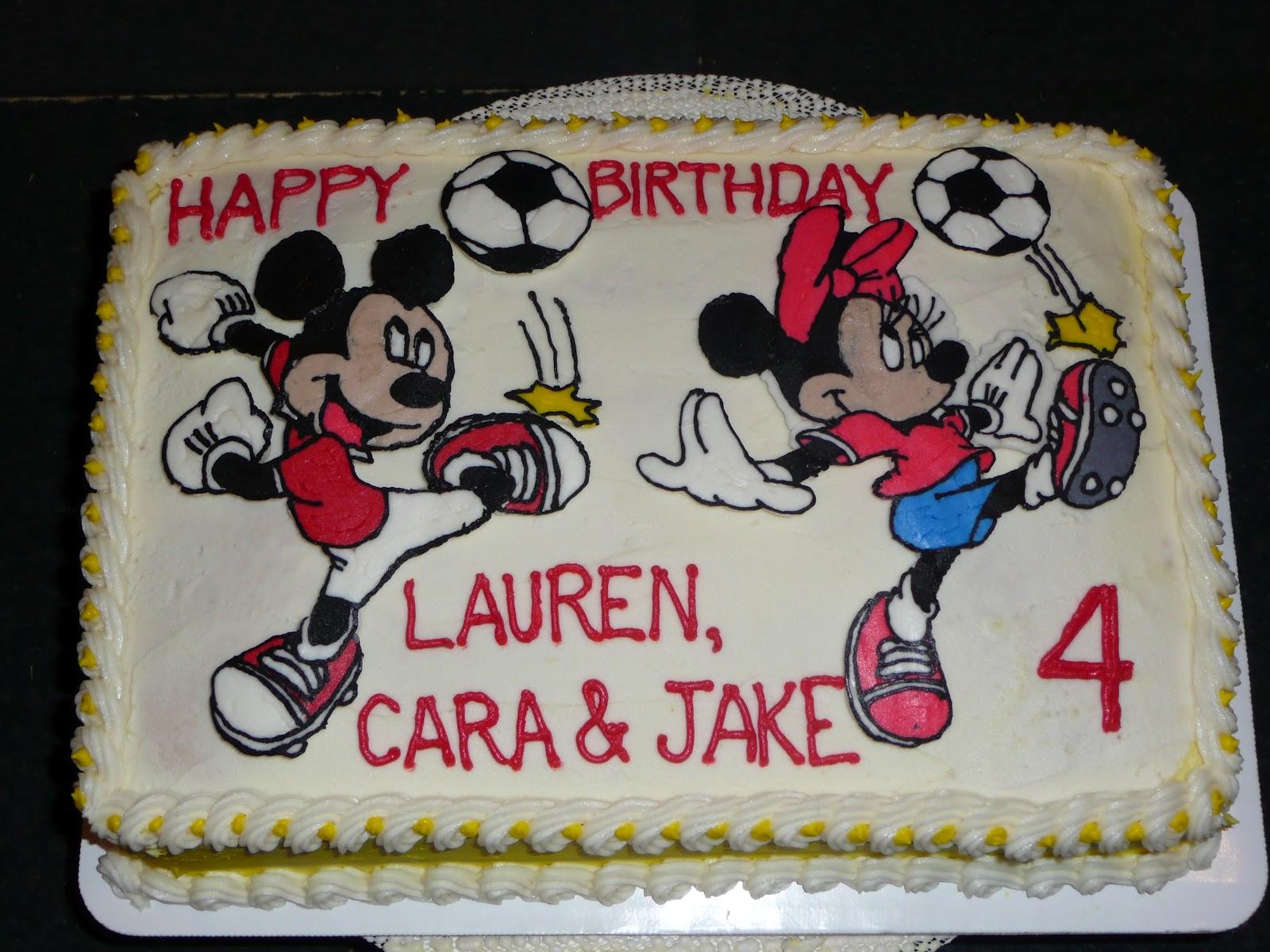 Desserts By Robin Mickey Minnie Mouse Birthday Cake
