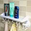 bathroom rack with hanger