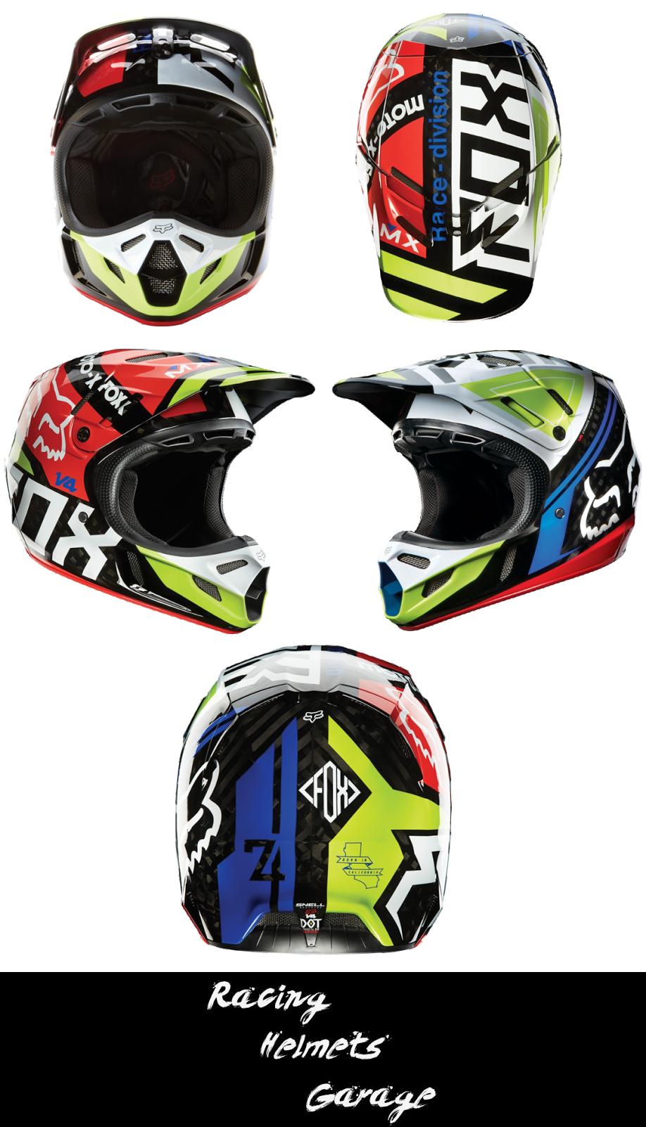 Racing Helmets Garage: Fox V4 2014