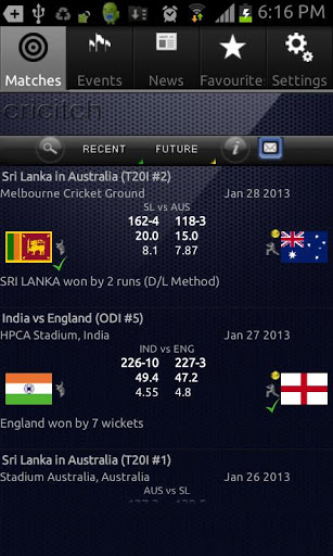 Live Cricket Scores Smart Phone App