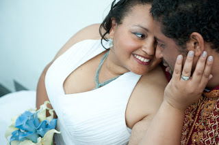 Tameka and Manoj wed at the Bellevue Art Museum (BAM)