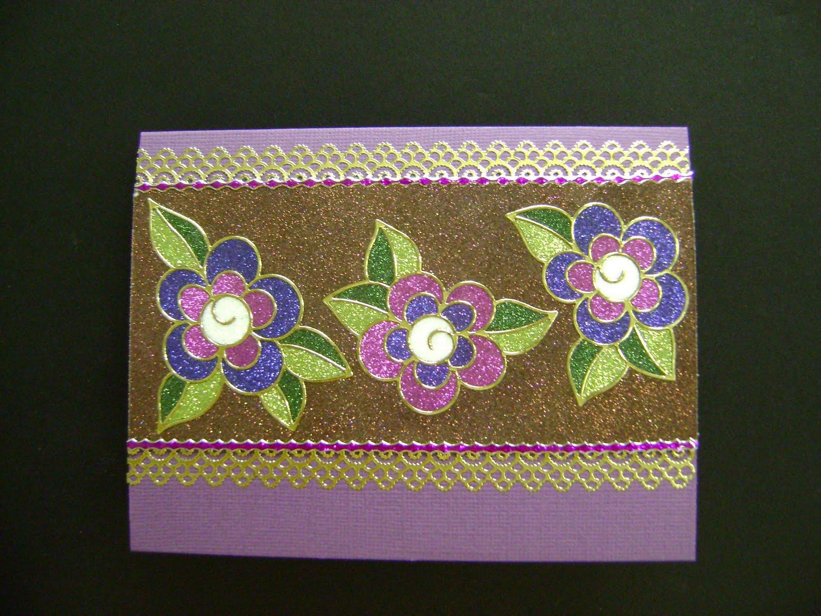 Stamped designs blog flowers with elizabeth crafts glitter for Elizabeth craft designs glitter