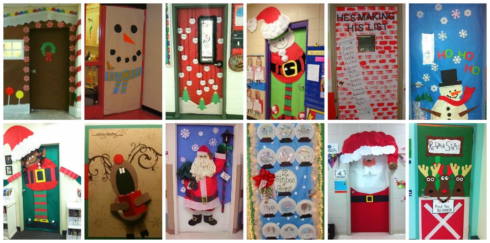 Recursos ideas para decorar y preparar el aula para for Como decorar una puerta en navidad