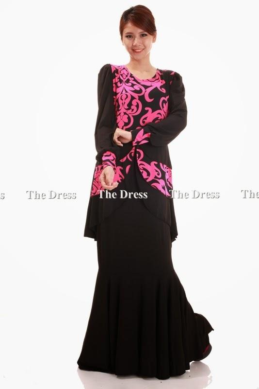 K7518 1 3 layer modern kebaya dress with graphic pattern