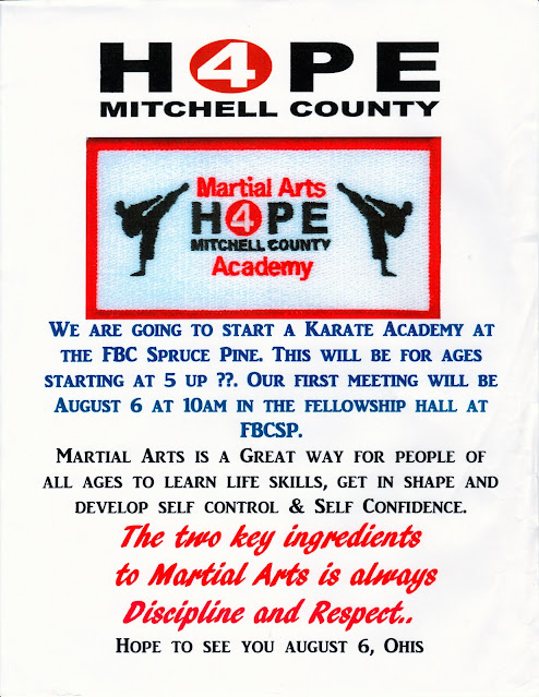 Hope 4 Mitchell County Martial Arts Academy