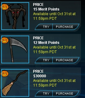 Halloween weapons at Superhero City
