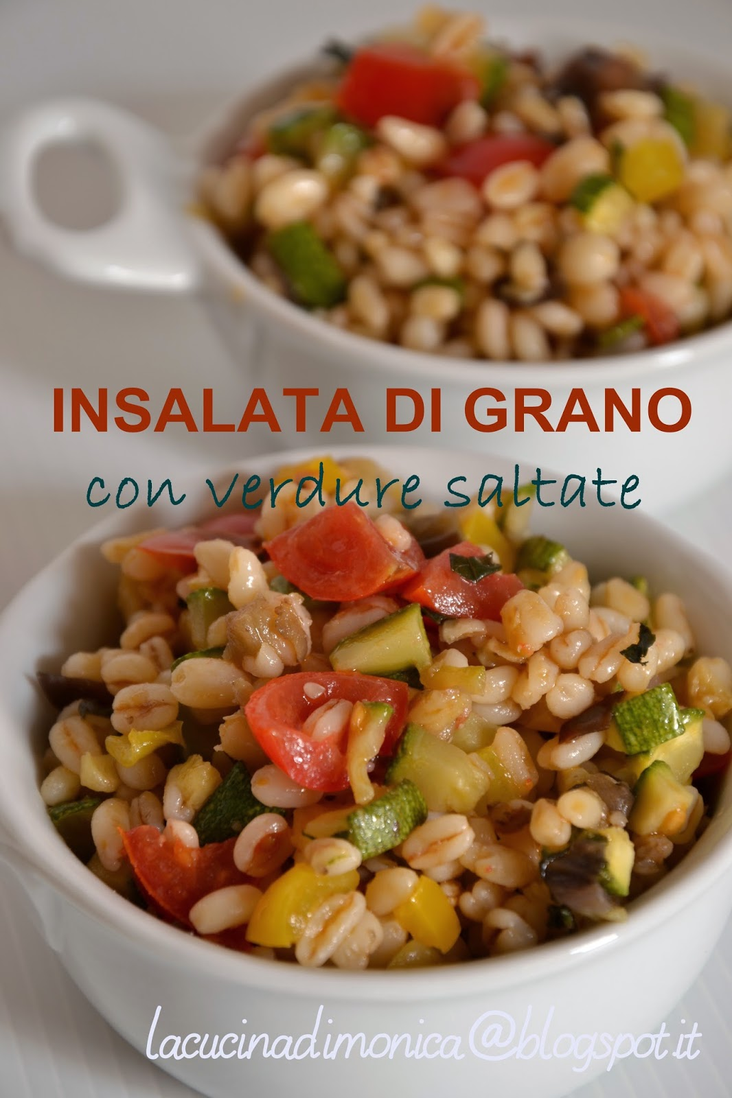 insalata di grano con verdure saltate