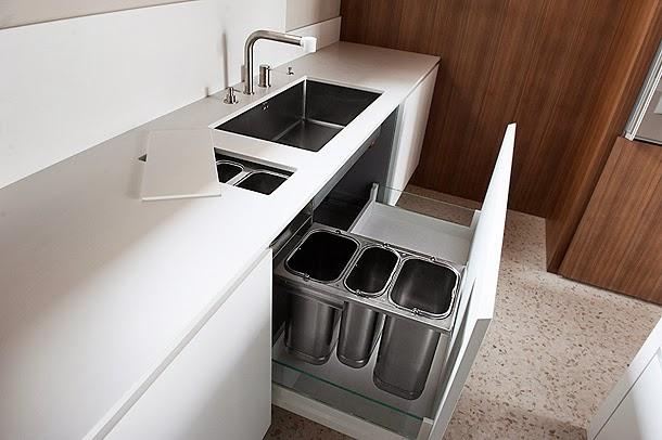 Marzua cocina minimalista dise ada y fabricada por simone - Dispensador jabon cocina ...