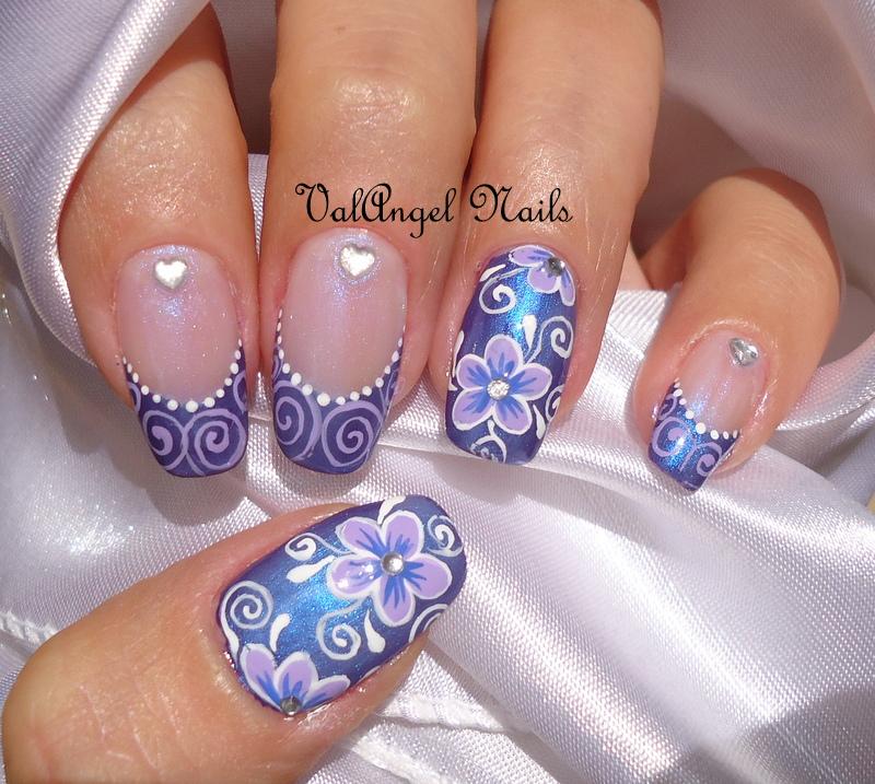 ValAngel Nails Art Nail Art Elegant Violet