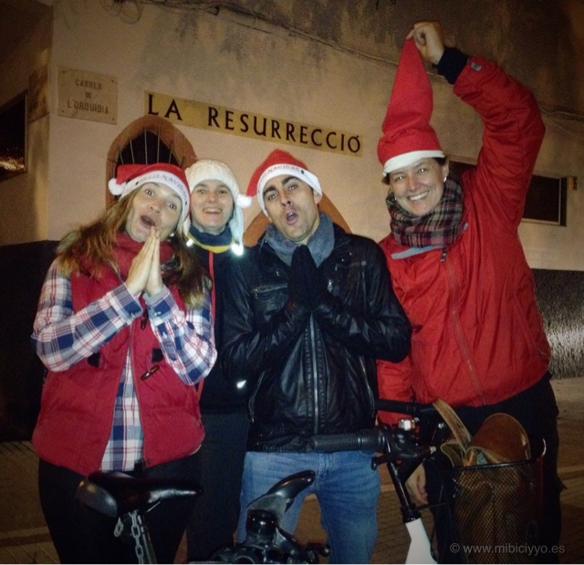 Friday Night Ride FNRide Navidad 2015 mibiciyyo