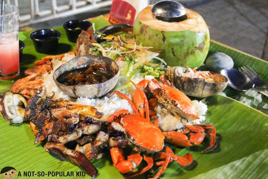The famous Mt. Apo Boodle Meal of Seafood Island