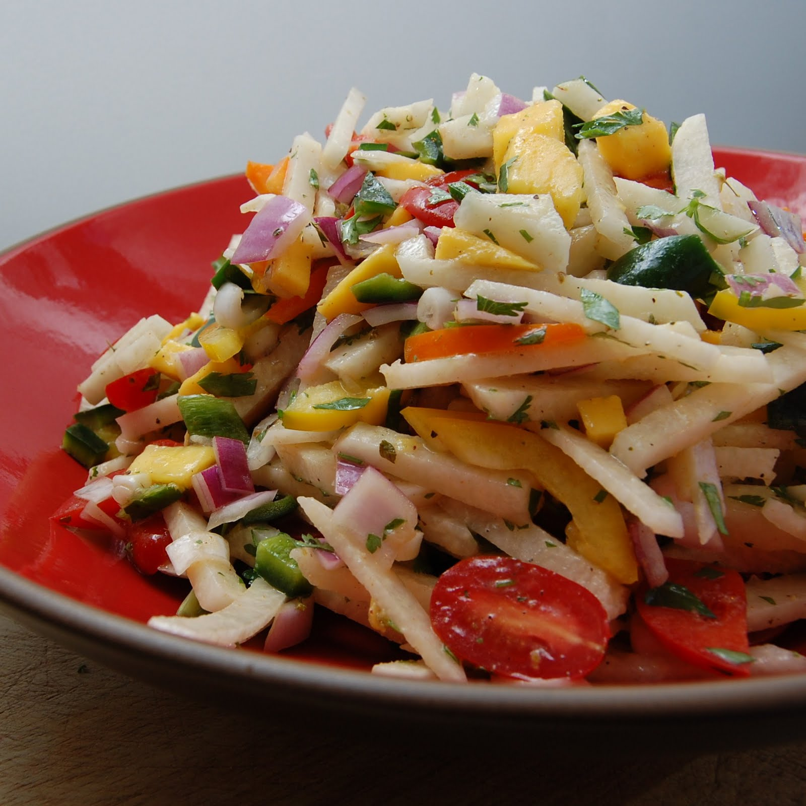 this jicama salad is great to serve along with just about any grilled ...