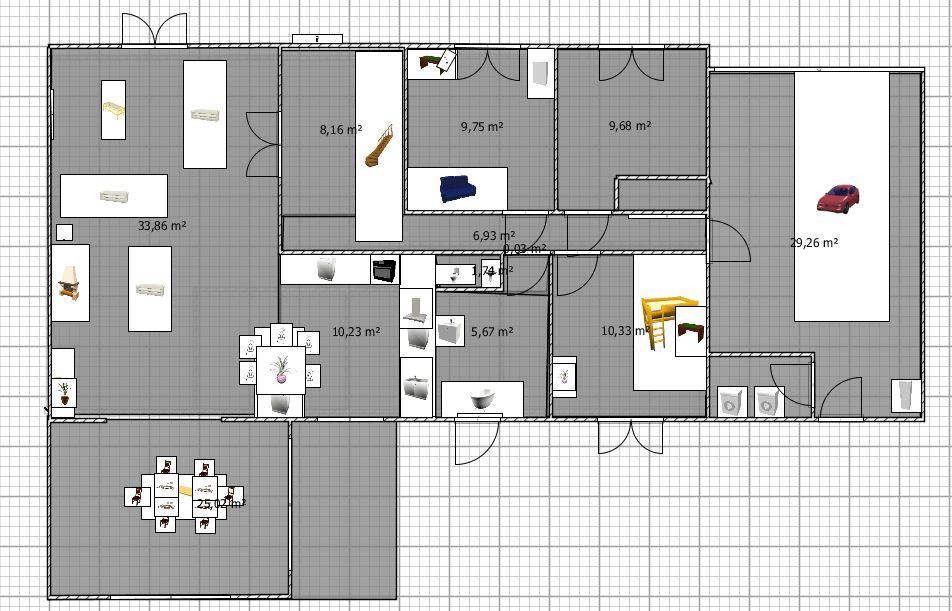 Plan interieur maison gratuit for Plan amenagement maison