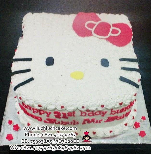 Kue Tart Hello Kitty 3D Merah Daerah Surabaya - Sidoarjo