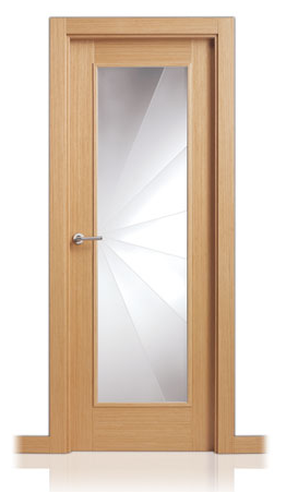 Fotos y dise os de puertas puerta con vidrio for Modelos de puertas de hierro con vidrio