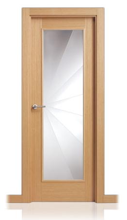 Fotos y dise os de puertas puerta con vidrio for Puertas de madera y cristal exterior