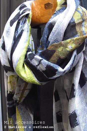 Foulard jaune et noir Mii accessoires
