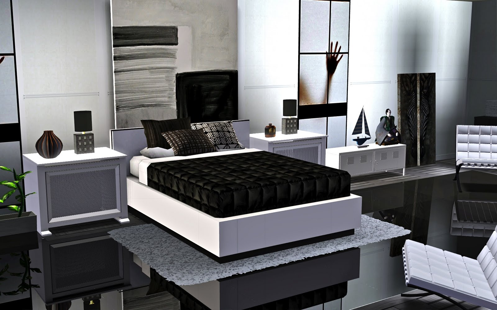 le blog de guijobo ambiance chambre r ve blanc. Black Bedroom Furniture Sets. Home Design Ideas