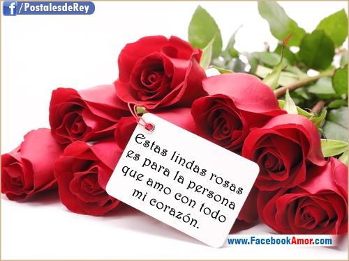 postales de rosas con frases de amor