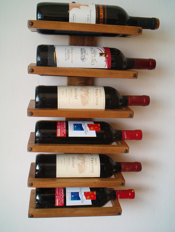 Garrafeira de parede wood second chance - Porta vino ikea ...