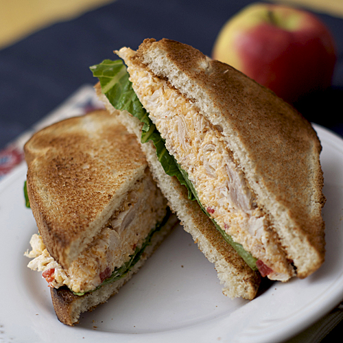 pimento cheese chicken salad sandwich