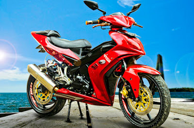 Modifikasi Motor Jupiter Mx Warna Merah Marun