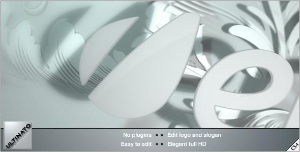 VideoHive White Floral Logo